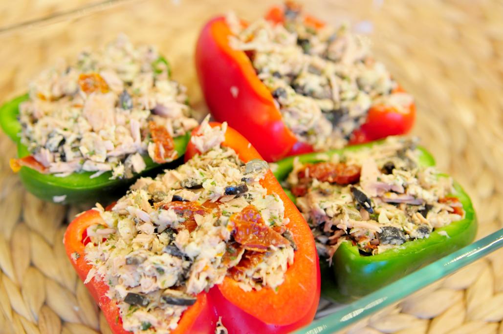 gevulde paprika met tonijn maken