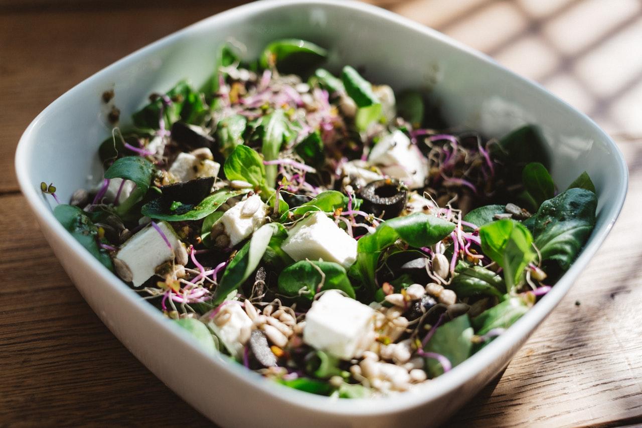 maaltijd met spinazie
