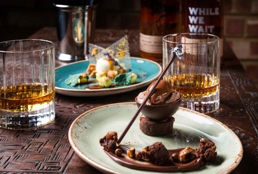 Whisky bij een zoet toetje