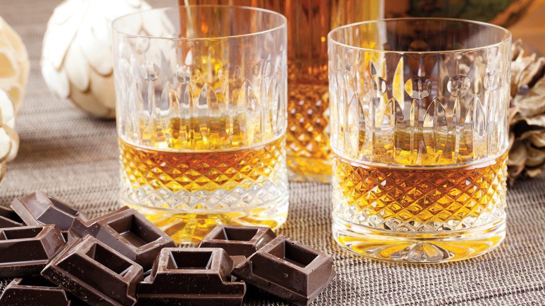 Whisky en chocolade als dessert