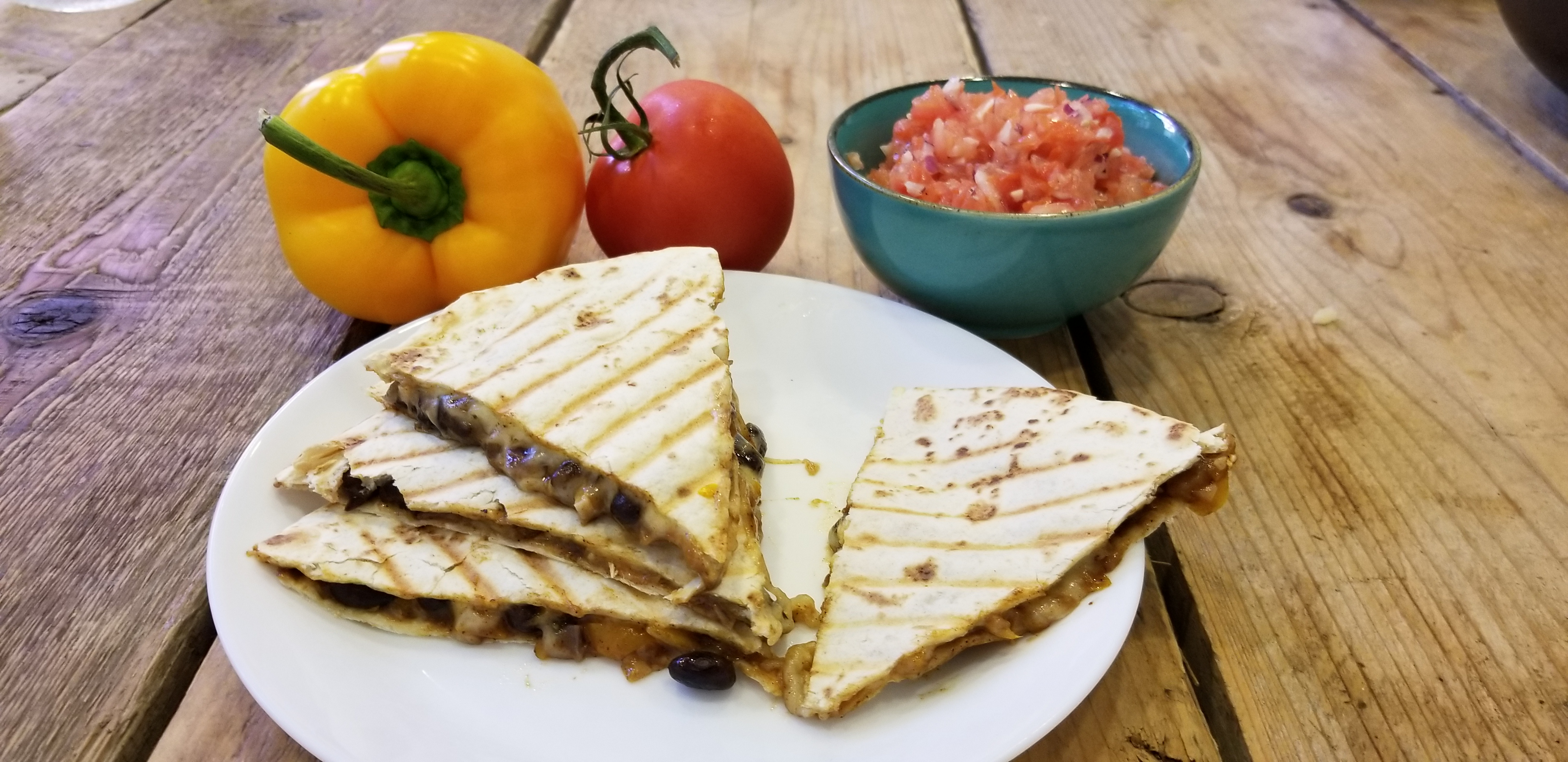Recept vegetarische quesadilla