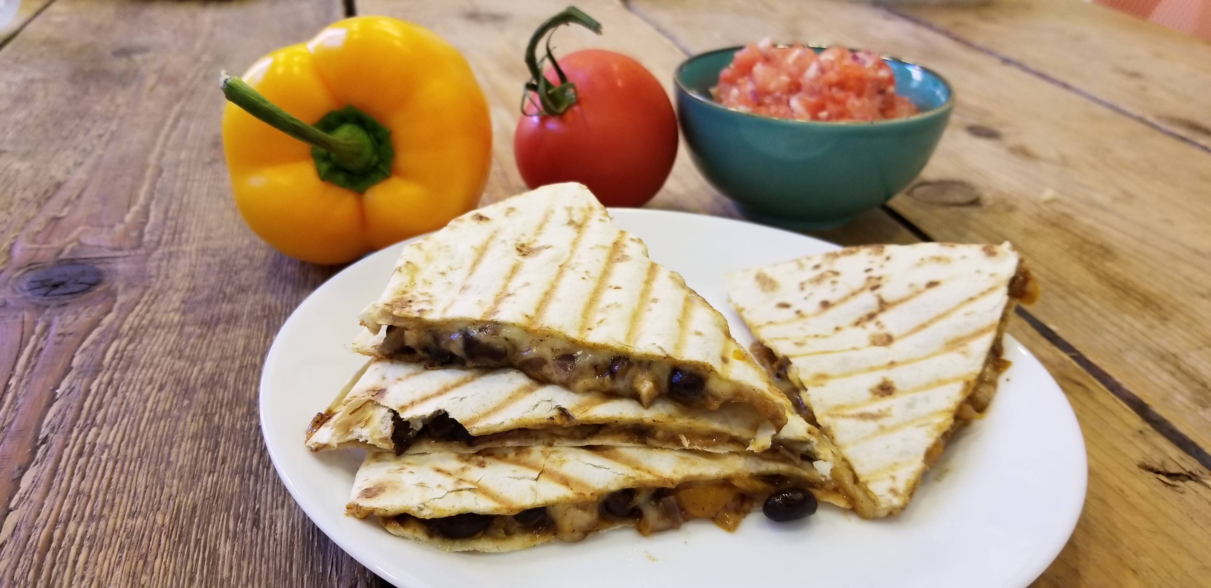 Recept vegetarische quesadillas met bonen