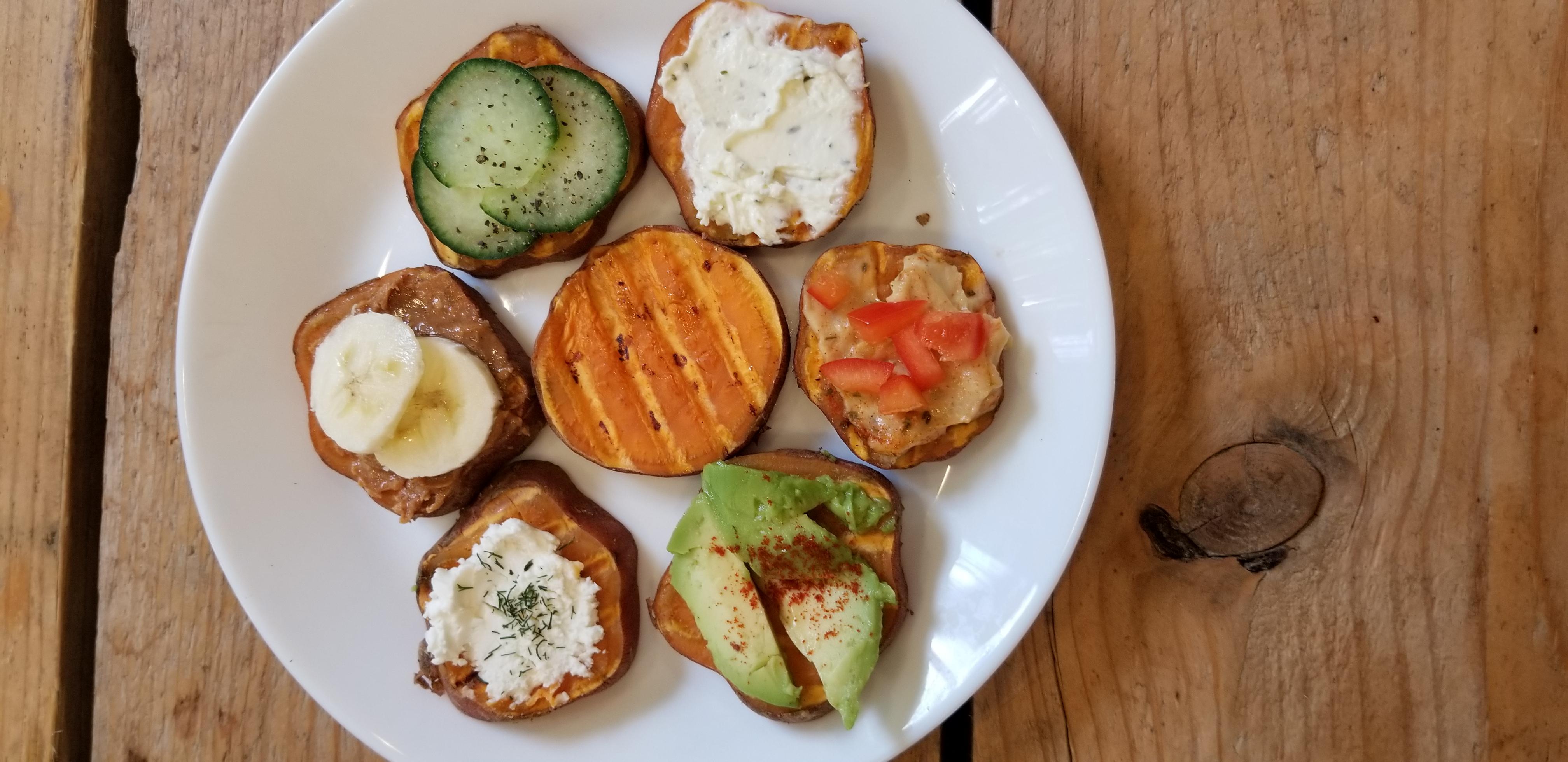 recept zoete aardappel toasts