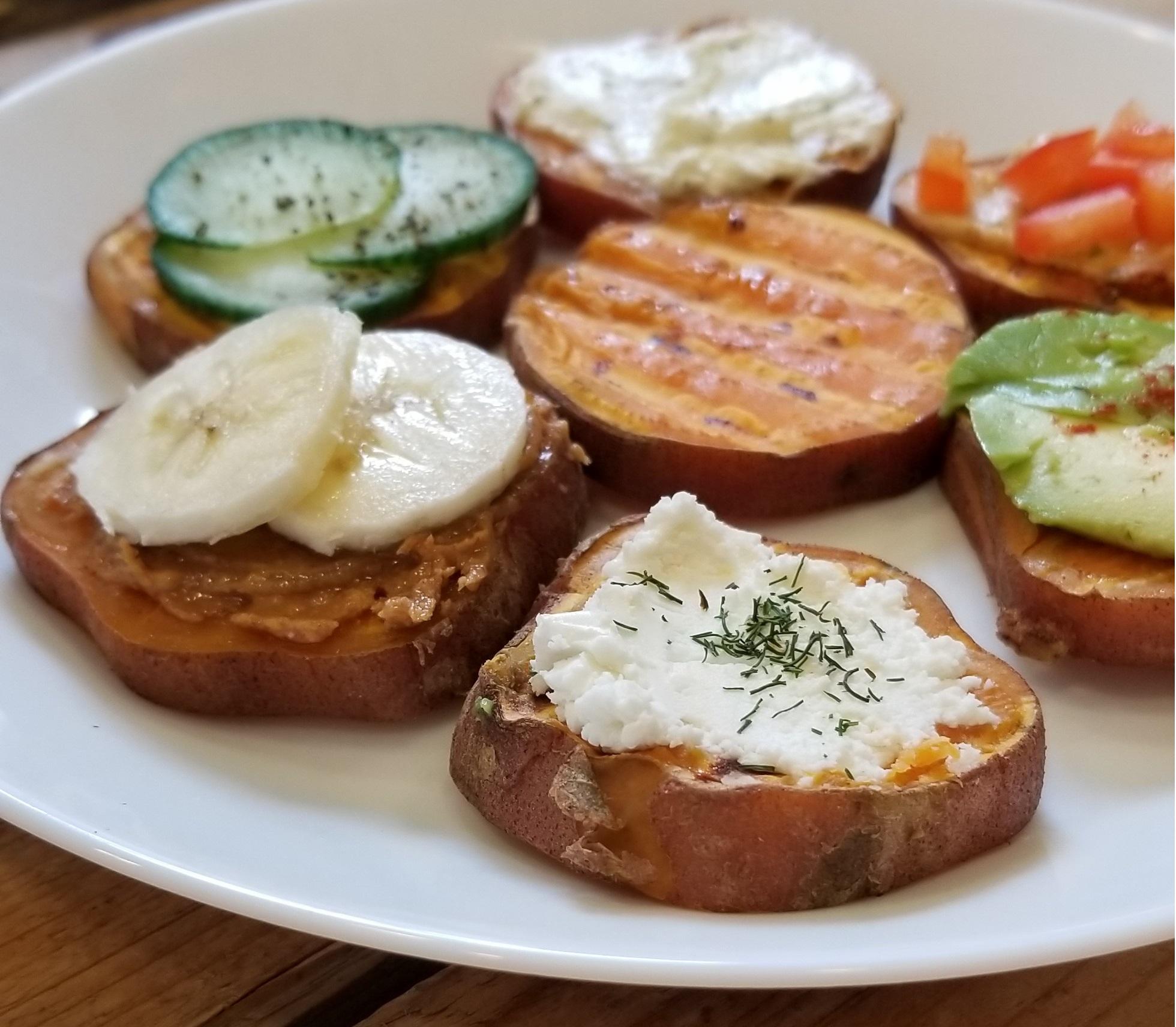 zoete aardappel toast maken
