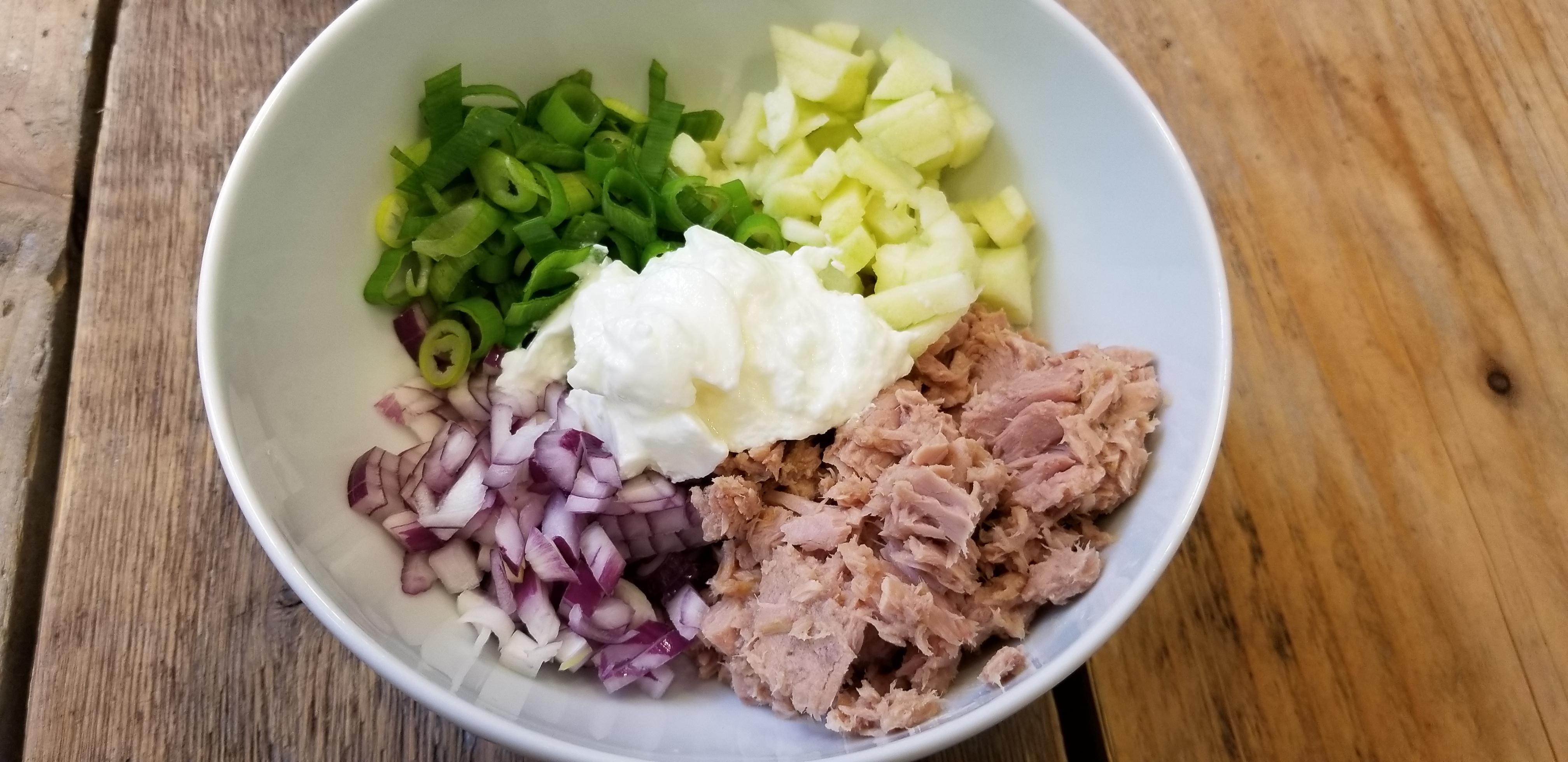 tonijnsalade met appel foto