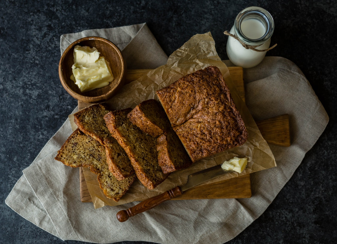 gezond tussendoortje bananen brood