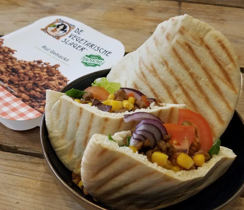 veganistische pita broodjes - 9x vegan lunch recept inspiratie