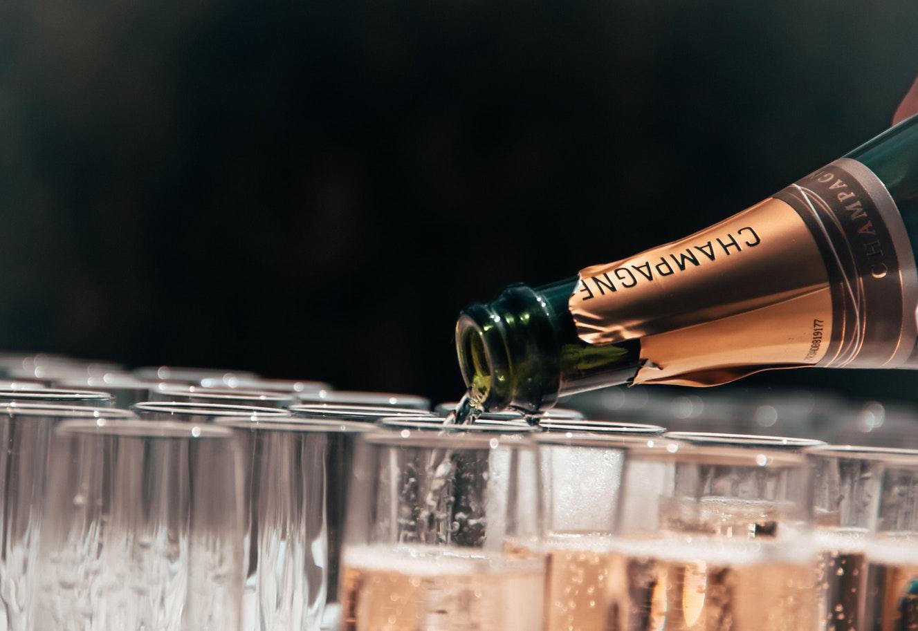 champagne en hapjes