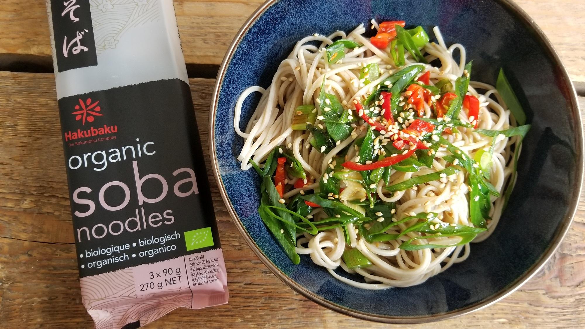 Recept voor gezonde soba noedels