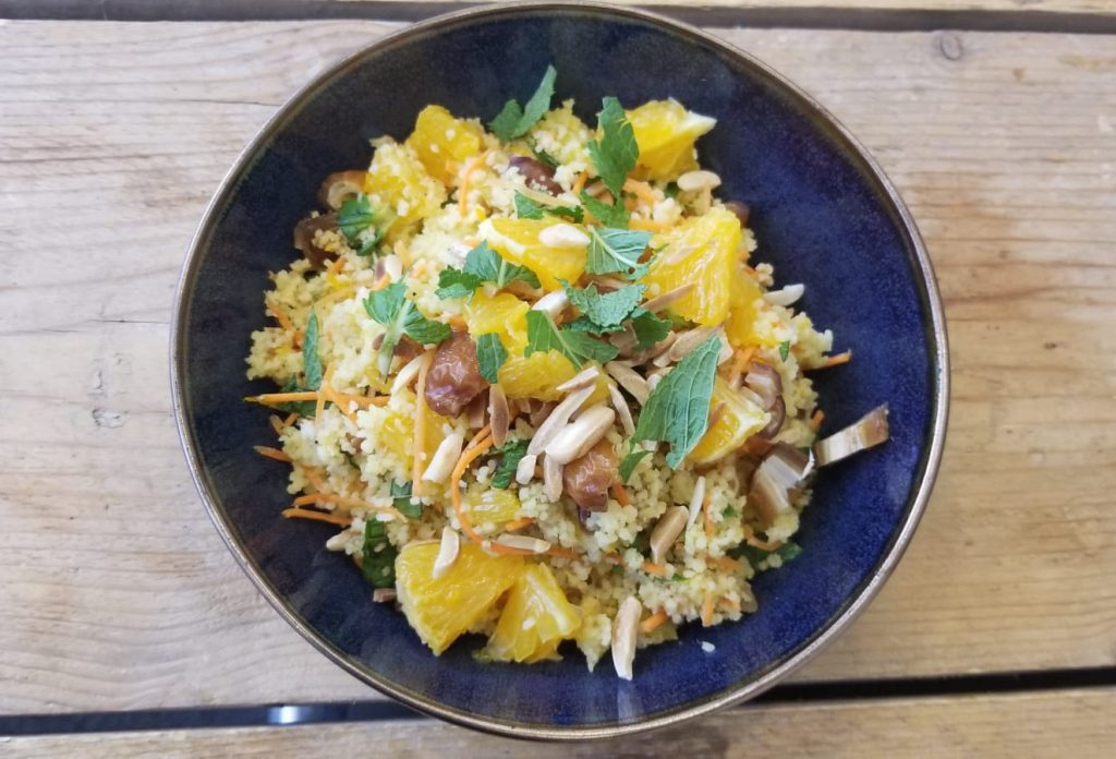 Recept gezonde fruity couscous met munt