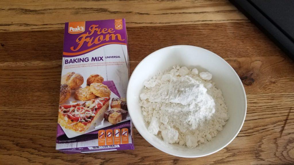 Glutenvrije bakmix om slagroomtaart te maken